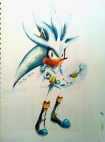 Silver the Hedgehog by connieiscrazy