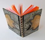 steampunk orange notebook by Diarment