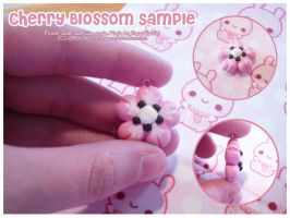 Cherry Blossom Sample Charm by MoogleGurl