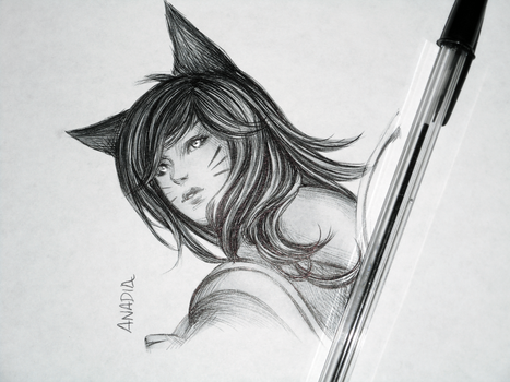 Day #9: Ahri by Anadia-Chan