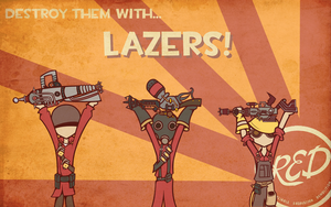 RED LAZERS! by Screw-vOLTA