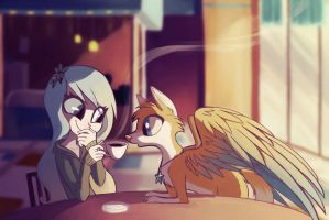 Coffee Shop by MissButlerArt