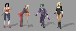 DC Character Sketches by Sketchy-raptor