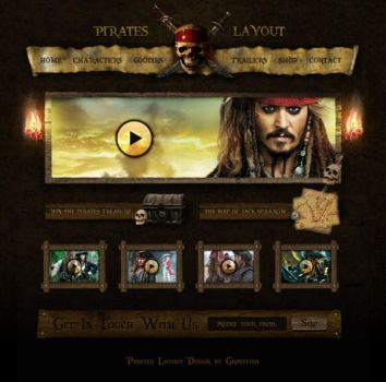 New Pirates Layout by Grafpedia