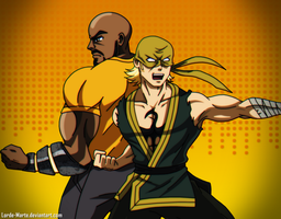 Powerman and Iron Fist by Lorde-Marte