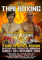 Thai Boxing 29Nov Poster by theoggster
