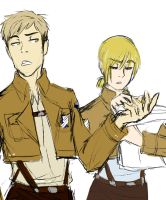 Older Jean and Armin by mossmallow