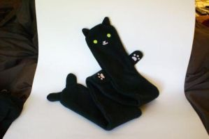 Hand made Black Cat Scarf by MonsterBrandCrafts