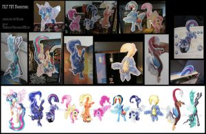 MLP FiM Pony tailhanger bookmarks by Sysirauta