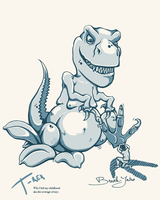 WhyILeftMyChildhood T-rex by Breaky