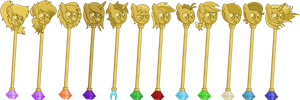Scepters for friends by Hottspinner