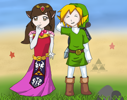 Cosplaying as Toon Link and Zelda - Contest Entry by Linkage92