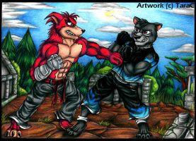 Commission - Kenichi and Crunch by Xtreme-Island