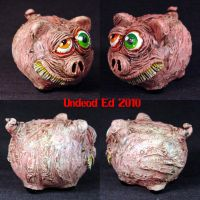Rot Piggy Silly grin Bank by Undead-Art