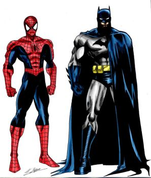 Spider-Man and Batman (Teamed Up) by CyberMan001