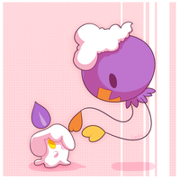 Drifloon and Litwick by LostLX