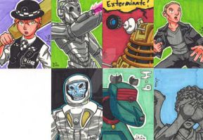 Sketchcards - Doctor Who 1 by Sideways8Studios