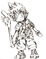 BBS: Chibi Ventus by WalksinTwilight