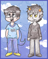 John and Karkat by Candy-Swirl