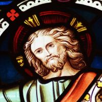 Stained Glass Window - Christ by Taking-St0ck
