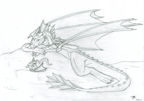 Big Dragon, Little Dragon by bladewing