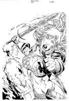 Red Sonja cover 60 by wgpencil