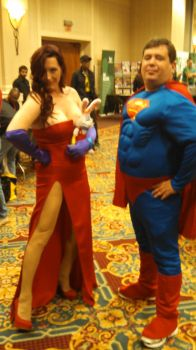 A Superman and a Super woman by Peanutmanington