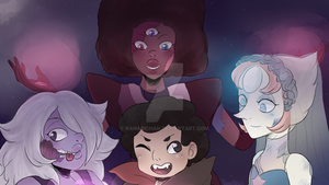 SU: Happy Halloween Crystal Gems! by kanarichan