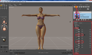 Poser tutorial: Composing a female character part2 by nyom87