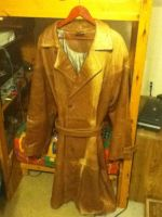 Lamb Skin Leather Trench Coat by MarcusMcCloud100
