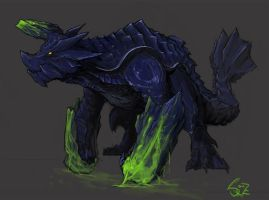 Brachydios, the Crushing Wyvern by Halycon450