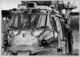 Eurocopter EC-725 Caracal drawing by alainmi