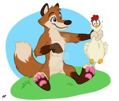 Padfox and the Chicken by mahrkale