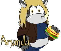 Amanda the Rhino by AshleyWolf259