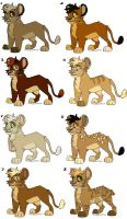 Lion Cub Adopts 3 - closed by MikacesAdopts