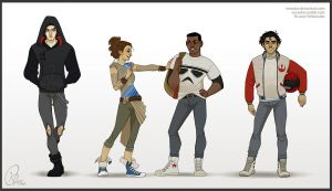 The Force Awakens Highschool AU by verauko