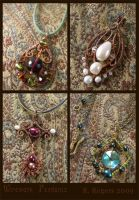 Wirework Pendants by ElegantlyEccentric