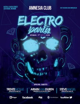 Electro Skull Party by outlawv15
