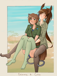 Bday Gift - Eleonore and Celia by BellaCielo