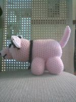 Crocheted Wolf - Side View by FMAInuYasha