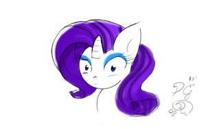 Surprised Rarity by thelunarmoon