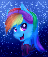 Winter Rainbow Dash by ImShySoIhide