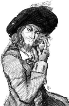 Pirates of the Caribbean: Hector Barbossa by Smudgeandfrank