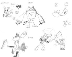 Monochrome: Cartoon rpg - Anime character ideas! by EB-the-GAMER