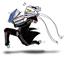Izanagi with books for protag by roseannepage