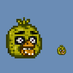 Chica Head Sprite by ElvisDitto