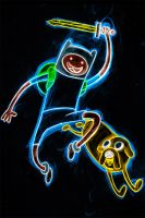 adventure time neon by AlanSchell