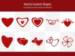 Hearts Custom Shapes by xara24