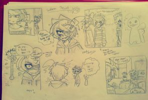 [Doodle] When Pewds visits Cry.. by Nadi-Chan