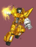 TF Sunstorm by JazylH and a friend by BlueFeatherArchangel